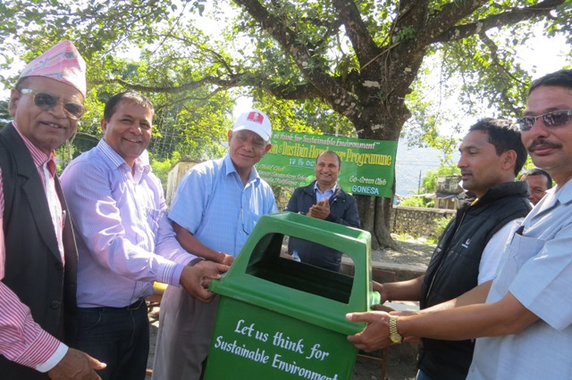 Dustbin Handover To Janaki School