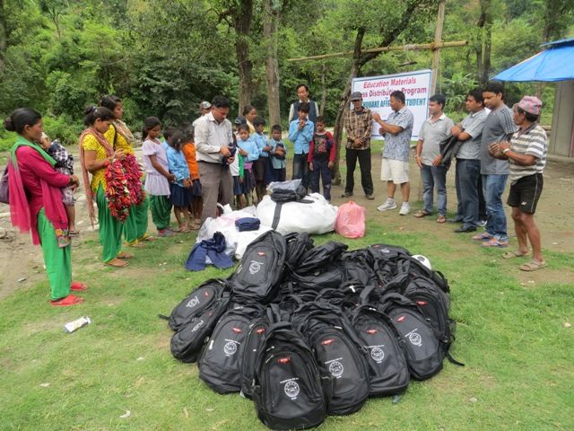 Education Materials And Dress Distribution Program For Earthquake Affected Student